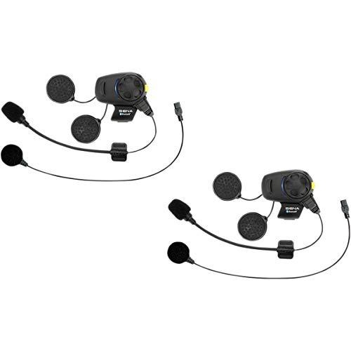 Sena - 2 auricolari e interfono Bluetooth con sintonizzatore FM integrato per moto e scooter, con microfono universale