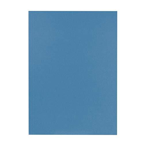 Original Falken 100er Pack Aktendeckel. Made in Germany. Aus Recycling-Karton für DIN A4 blau Blauer Engel Hefter ideal für das Büro und Schule und die mobile Organisation