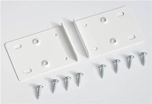 Reparaturset für Küchenschrank-Scharniere, enthält 2 Platten und Befestigungsschrauben, Weiß