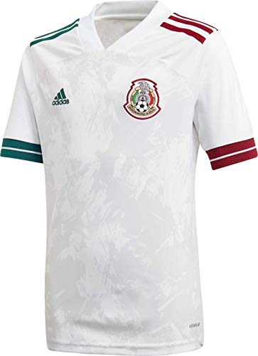 adidas 2020-21 Mexico Youth Away Jersey - White YL