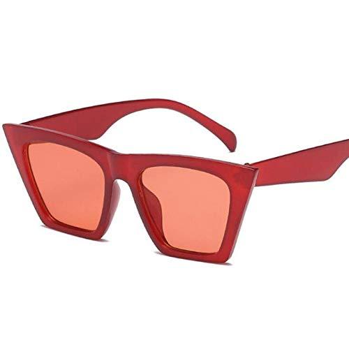 Lindas y Atractivas Gafas de Sol Retro Cateye para Mujer, pequeño, Negro, Blanco, triángulo, Vintage, Barato, Rojo, Gafas de Sol para Mujer, Uv400 C2