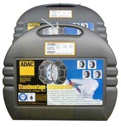 ADAC Stand montaje–Cadenas de nieve Automóviles para los neumáticos tamaño 155/70R15–TÜV, ö de Norma y cuna