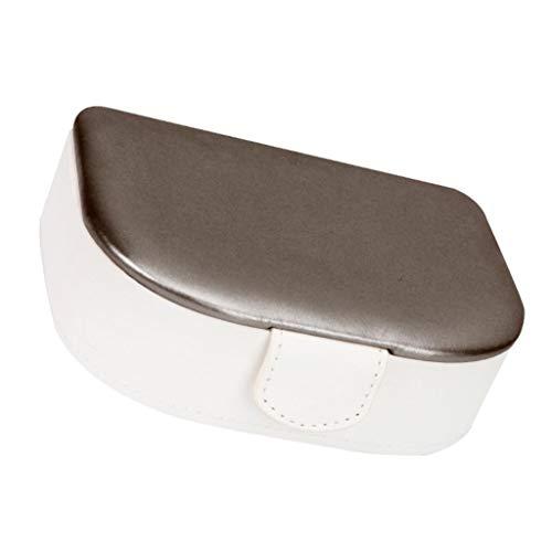 Generic Caja de Almacenamiento de Joyas de PU, Collar, Pendientes, Caja de Presentación, Portátil para Viajes - Champán