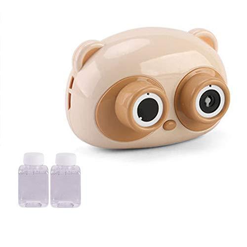 strimusimak Máquina de burbuja, fabricante automático de burbujas juguetes para niños y niñas, soplador de burbujas para bodas, jardín al aire libre, juguetes de baño de interior - oso caqui*
