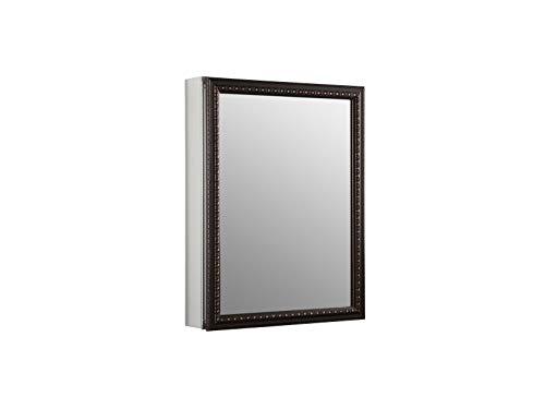 KOHLER K-2967-BR1 20 inch x 26 inch Aluminum Bathroom Medicine Cabinet with Oil-Rubbed Bronze Framed Mirror Door; Recess or Surface Mount