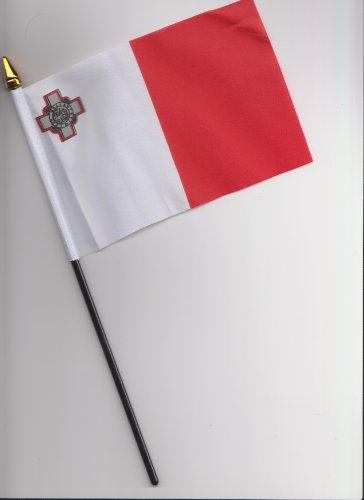 Malta bandera de la mano 25cm