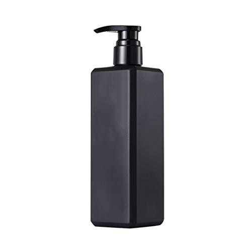TOPBATHY Pumpflasche Nachfüllbar 500ml Pumpspender Leer Seifenspender Pumpe Gelspender Reinigung Flüssigkeiten Flasche für Küche Hygiene Bad Toilettenartikel Außen (Schwarz)