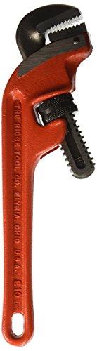 RIDGID 31060 E-10 Llave de tubo para espacios estrechos para servicio pesado, Llave de fontanería de 10 pulgadas