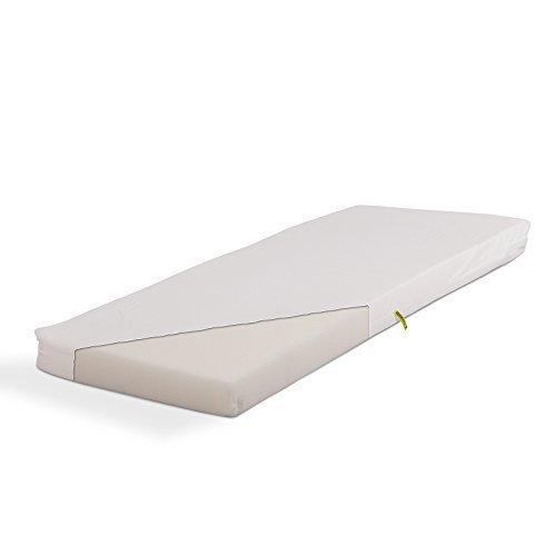 Materasso con nucleo in gomma piuma per bambino 40 x 90 cm bianco gommapiuma