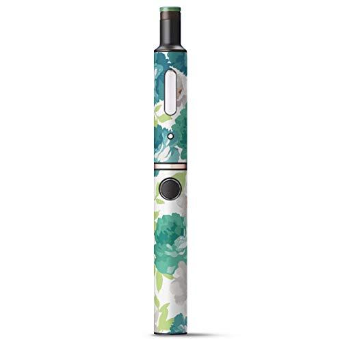 igsticker Ploom TECH + Plus プラス 専用 デザインスキンシール プルームテック カバー ケース 保護 フィルム ステッカー 011104 花 フラワー 緑