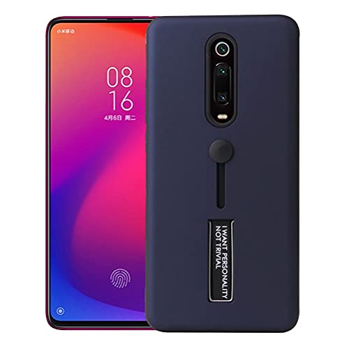 MOONCASE Capa para Redmi K20 / K20 Pro (Mi 9T), PC + TPU Proteção Dupla Ultrafina Antiderrapante À Prova de Choque Com Suporte Oculto Capa para Xiaomi Redmi K20 / K20 Pro (Mi 9T) (Azul)