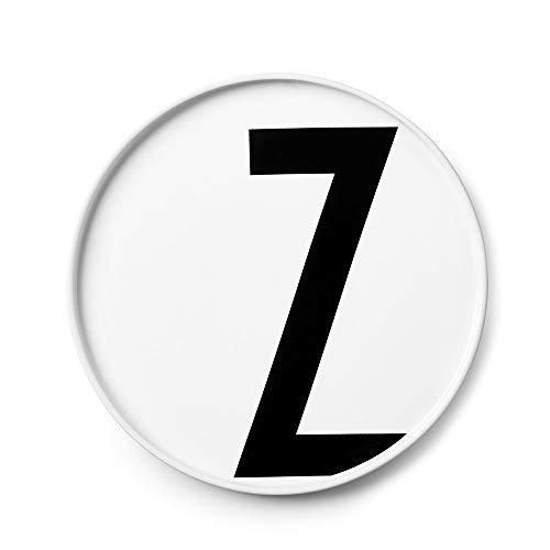 Design Letters Assiette Personnalisée en Blanc Porcelaine Fine de A-Z - Z – Assiette Decorative, Idéal décorer, comme Cadeau Personnel, ou pour Les Repas, Compatible Lave-Vaisselle, D: 20cm