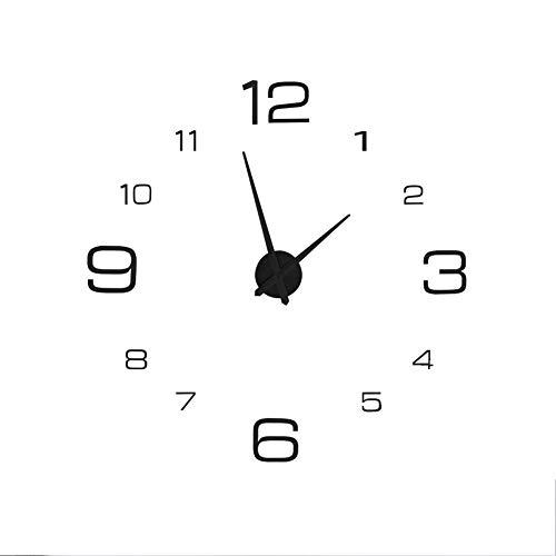 reloj de pared negro fabricante AUNMAS