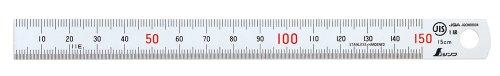 シンワ測定(Shinwa Sokutei) 直尺 シルバー (反射抑制加工) 15cm JIS1級 13005