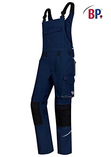 BP 1804-720-110 Workwear Unisex Latzhose, Baumwolle und Polyester, Nachtblau, Größe 42n