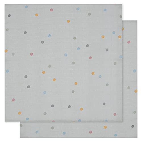 Kindsgut Musselin Tücher aus OEKO-TEX®-zertifizierter Baumwolle, für Babys und Klein-Kinder, 2er-Set Spucktücher in schönem Design, Alltagsbegleiter für zuhause und unterwegs, Punkte