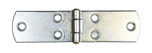 Gedotec französische Kistenbänder schwere Torbänder Ladenbänder aus Stahl | 120 x 30 mm | Torband blau verzinkt | Scharnier Materialstärke 2,0 mm | 1 Stück - Türscharnier Metall zum Schrauben