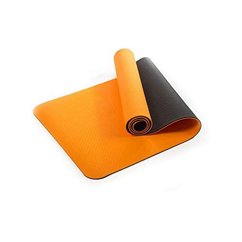 Estera de Yoga TPE Inicio Gym Fitness Tapete Grueso Antideslizante Cuerpo Cuerpo Tren Pilates Gimnasia Ejercicio (Color : Orange)