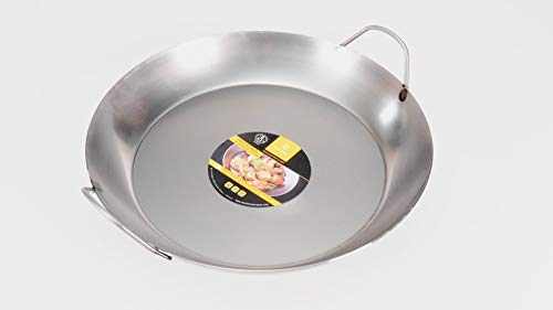 Matfer Bourgeat Black Steel Paella Pan, 15 3/4'