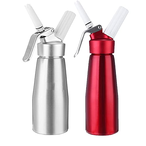 MJYK Sifón de Nata Dos Aluminio Tanque Dispensador de Crema