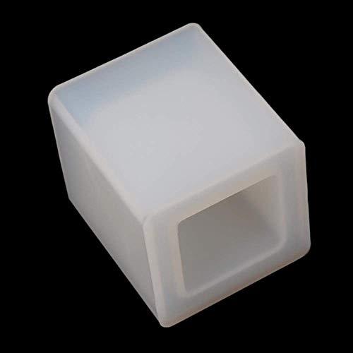 AMITD DIY transparante siliconenkaars maken vormen hars decor handwerk ronde vierkante bewaarstift houder vormen make-up gereedschappen, zoals op de afbeelding As Picture Zoals op de afbeelding.