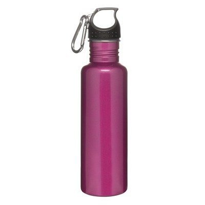 Sagaform 5016183 Sport-Flasche, Aluminium, mit Karabiner, 0,6 l, Rosa