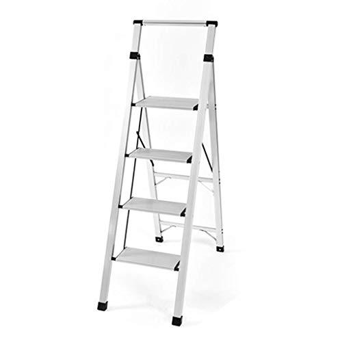 Taburetes escalonados- Escalera mecánica de Aluminio con pasamanos, Escalera Ligera Plegable para Adultos, Carga 1 50 kg, 3 Capas, 4 Capas y 2 Modelos