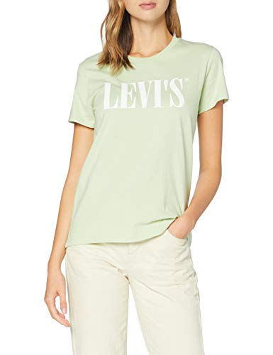 Levi's Damen The Perfect Tee T-Shirt, Serif Logo Bok Choy, Small