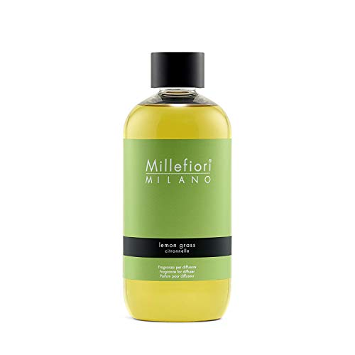 Millefiori Natural Refill for Stick Diffuser, Glas, gelb, 250 ml