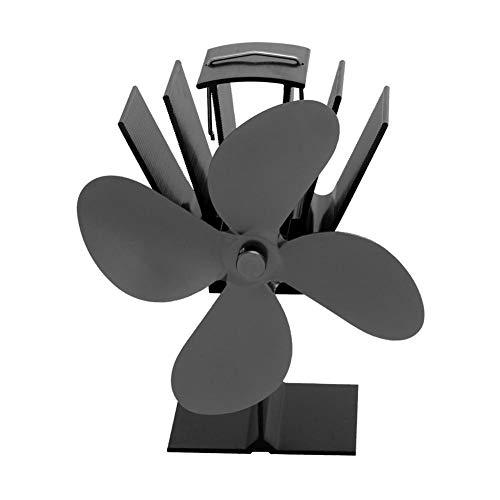 Brownrolly Ventilator, ventilator met 4 vleugels, voor houtkachels, oven, voor optimale verdeling van de lucht