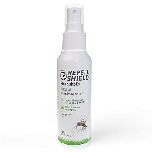 RepellShield Spray Antimosquitos - Repelente Mosquitos, Previene Picaduras Insectos y Mosquito Tigre - Antimosquitos Spray Niños y Adultos - Anti Mosquitos, Alternativa Natural a la Permetrina, 100ml
