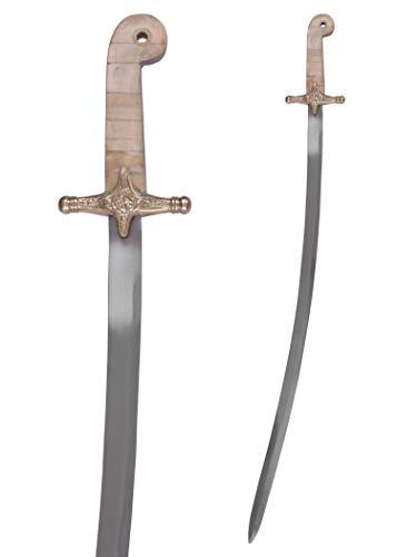 Battle-Merchant Britischer M-1831 Generalssäbel mit Scheide   Dekowaffe aus echtem Metall   Reenactment Säbel mit Stahlklinge   Schwert für Erwachsene