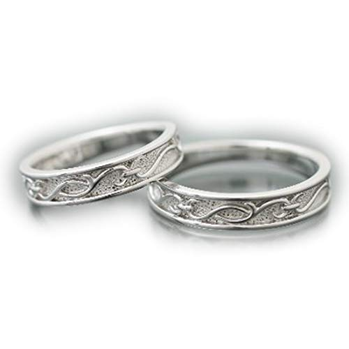 [ココカル]cococaru ペアリング シルバー リング2本セット マリッジリング 結婚指輪 日本製(レディースサイズ2号 メンズサイズ19号)