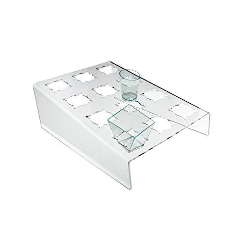 Avà srl Support plexi crème glacée – 16 compartements - Dimensions: 28x30x H10 cm