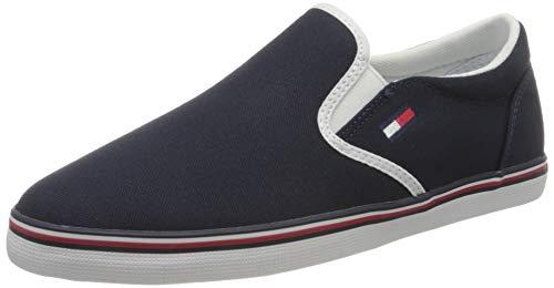 Tommy Jeans Essential Slip On Sneaker, Zapatillas Mujer, Azul (Twilight Navy C87), 38 EU