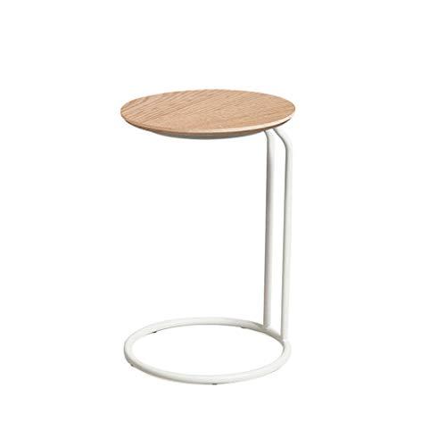 Liangzishop Salotto Side Table Tavolino da Salotto in Ferro battuto Creativo Semplice Divano Tavolo Mini Tavolo Tondo Tavolino,Tavolino da Camera (Color : C)