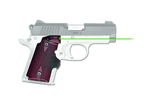 Crimson Trace LG-409G P10 Lasergrip with Heavy Duty Construction and Instinctive Activation for Kimber Micro 9mm Pistols, Defensive Shooting and Competition, Black