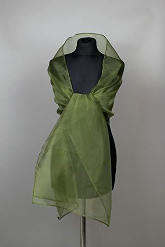 Chal organza color verde oliva novia boda vestido de fiesta