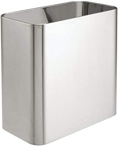 Best mDesign stainless steel trash can amazon for bathroom