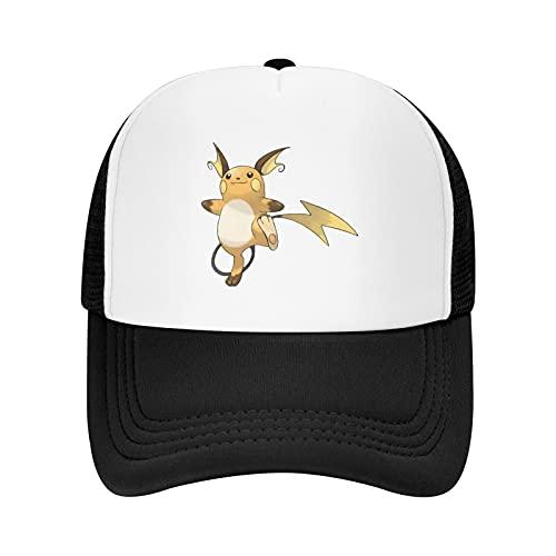 MWHprint Adult's Trucker Hats for Boys & Girls Cool Adjustable Mesh Baseball Cap, Raichu, Black