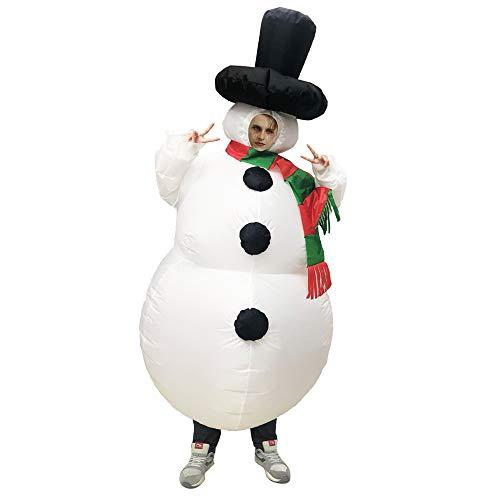 AKDSteel Aufblasbares Schneemann-Kostüm für Erwachsene, Halloween, Cosplay, Party, Erwachsenen-Spielzeug für Kinder, Erwachsene