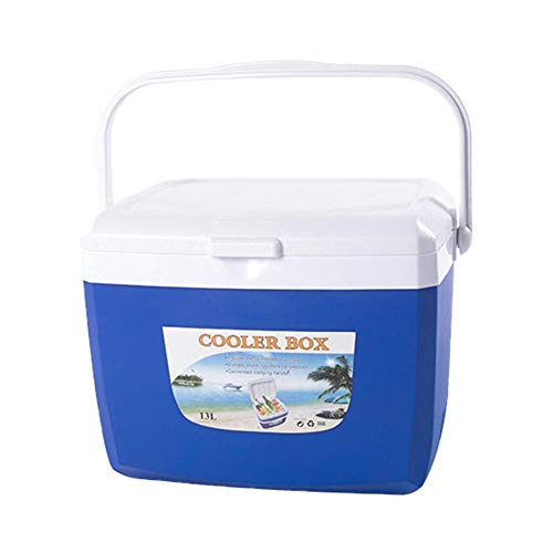 mooderff auto koeltas 5L koelbox camping isoleertas koelmand thermotas campingtas isoleerbox picknicktas, blauw/oranje
