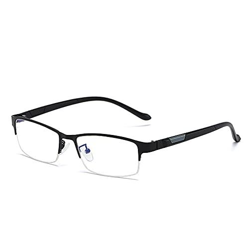 Gafas Sol UV400 Que Cambian Color Al Aire Libre para Hombres, Gafas Lectura Enfoque Múltiple Progresivas Medio Marco Aleación Negocios, Dioptrías +1.0 A +3.0,Negro,+1.00