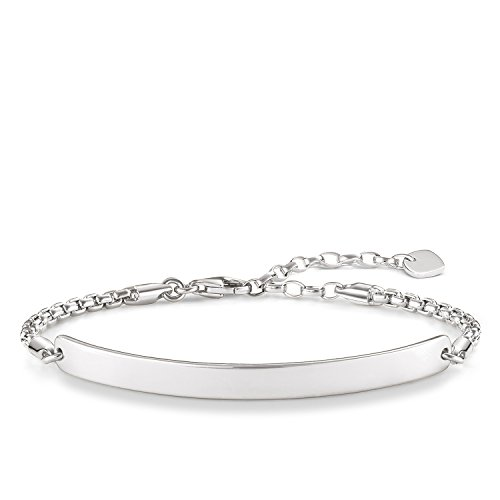 Thomas Sabo Damen-Armband Love Bridge 925 Sterling Silber Länge von 16.5 bis 19.5 cm Brücke 5.4 cm LBA0047-001-12-L19,5v