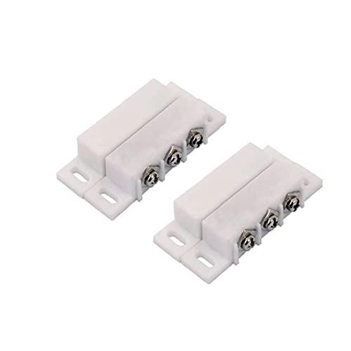 No/NC Conexión por cable Interruptor de contacto Magnético Reed Switches Sensor de puerta para el sistema de control de acceso al sistema de alarma para el hogar 1pc