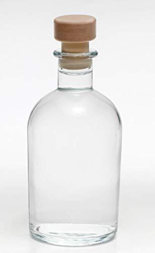 casavetro 6 x 250 ml Glasflaschen Leer New-Bost-HGK Kleine Apotheker-Flasche mit Korken Verschluss, 0,25 Liter l