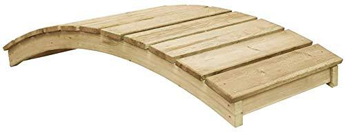 Imprägnierte Kiefer Dekorative Holzbrücke Terrassengartenbaugruppe ist sehr einfach zu bedienen, um lange Zeit zu dauern, was im Freien in der gesamten Umgebung verwendet werden kann,Oak color
