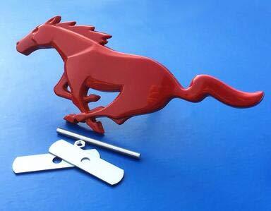 1 pièces de Mode 3D Metal Mustang Cheval Hood Capuche Grille Corps Emblème Sticker Mustang Cheval Logo Front pour Ford Mustang Car Style Accessoires (Color Name : Light Blue)