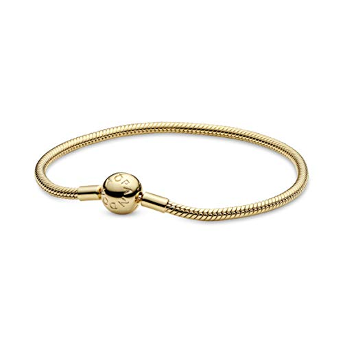 Pandora Moments 18K Gold Plated Alloy Snake Link Bracelet 17 cm gold