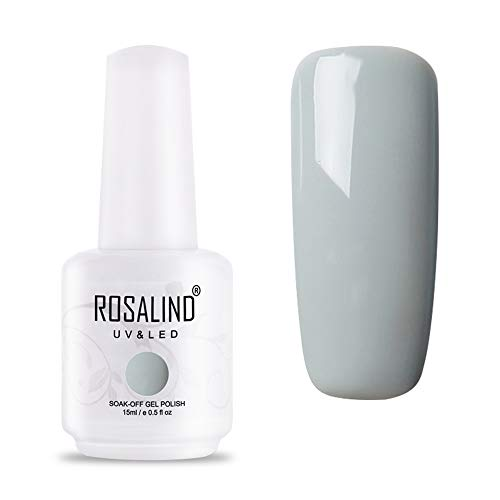 ROSALIND UV LED Gel Nagellack Grau für Nageldesign Gel Nail Polish Soak off 1 Stück 15ml